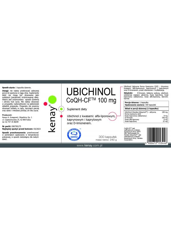 UBICHINOL CoQH-CF 100 mg (300 kapsułek) - suplement diety