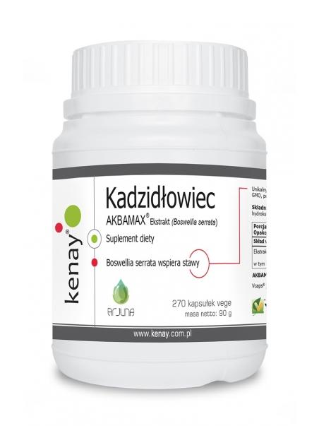 KADZIDŁOWIEC - ekstrakt (Boswellia serrata) AKBAMAX®  (270 kapsułek) - suplement diety