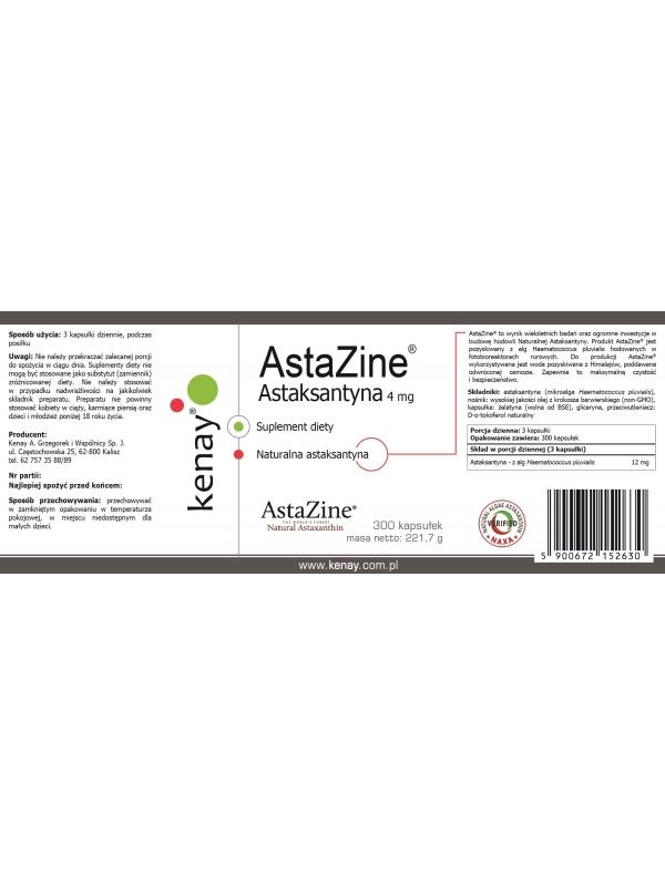 AstaZine® Astaksantyna 4 mg (300 kapsułek) - suplement diety