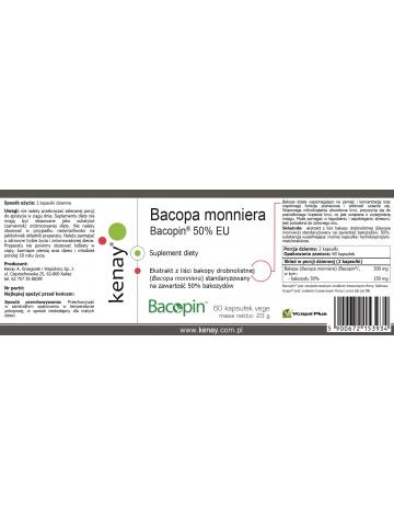 Bacopa monniera Bacopin® 50% EU (60 kapsułek) - suplement diety