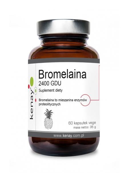 Bromelaina 2400 GDU (60 kapsułek) - suplement diety