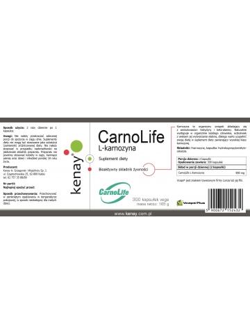 L-karnozyna CarnoLife (300 kapsułek) - suplement diety