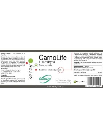 L-karnozyna CarnoLife (60 kapsułek) - suplement diety