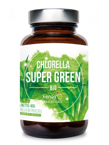 Organiczna Chlorella Super Green (proszek - 40 g) - suplement diety
