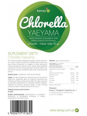 Chlorella Yaeyama w proszku (50 g) - suplement diety