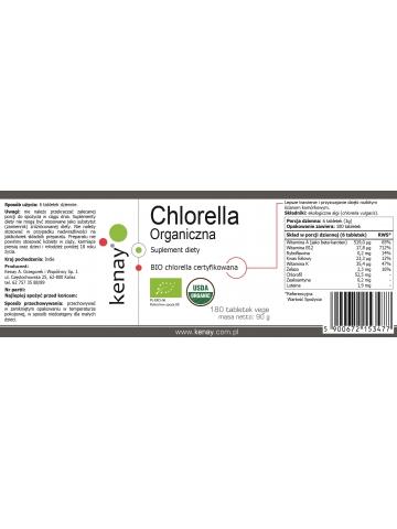 Organiczna Chlorella (180 tabletek) - suplement diety