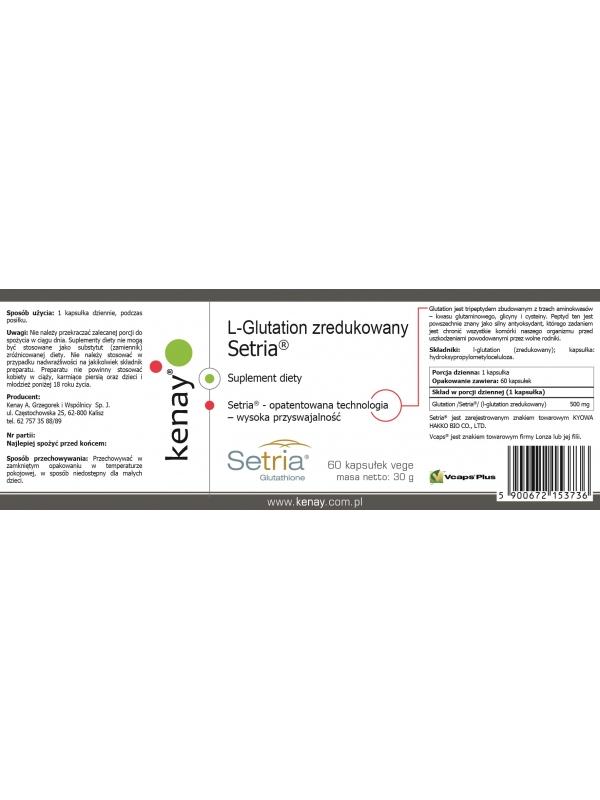 L-Glutation zredukowany Setria® (60 kapsułek) - suplement diety