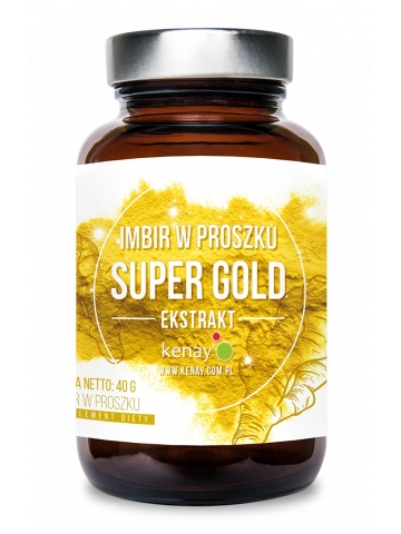 Imbir w proszku SUPER GOLD (40 g) - suplement diety