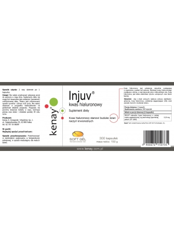 Injuv - Kwas Hialuronowy (300 kapsułek) - suplement diety