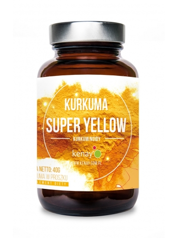 Kurkuma SUPER YELLOW, rozpuszczalny ekstrakt (40 g) - suplement diety