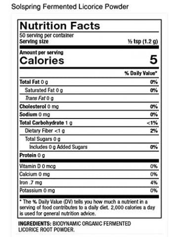 Organiczna fermentowana lukrecja w proszku (DR. MERCOLA®) - 60 g