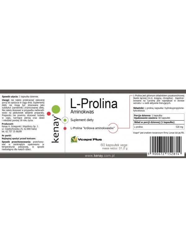 L-Prolina Aminokwas (60 kapsułek) - suplement diety
