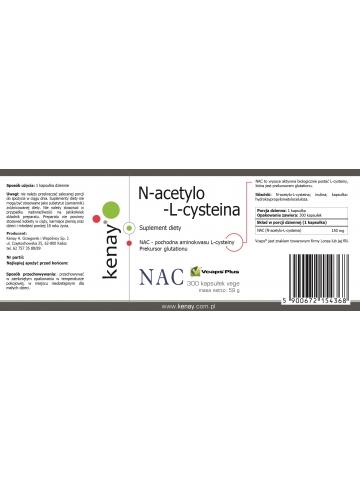 NAC  N-acetylo-L-cysteina 150 mg (300 kapsułek) - suplement diety