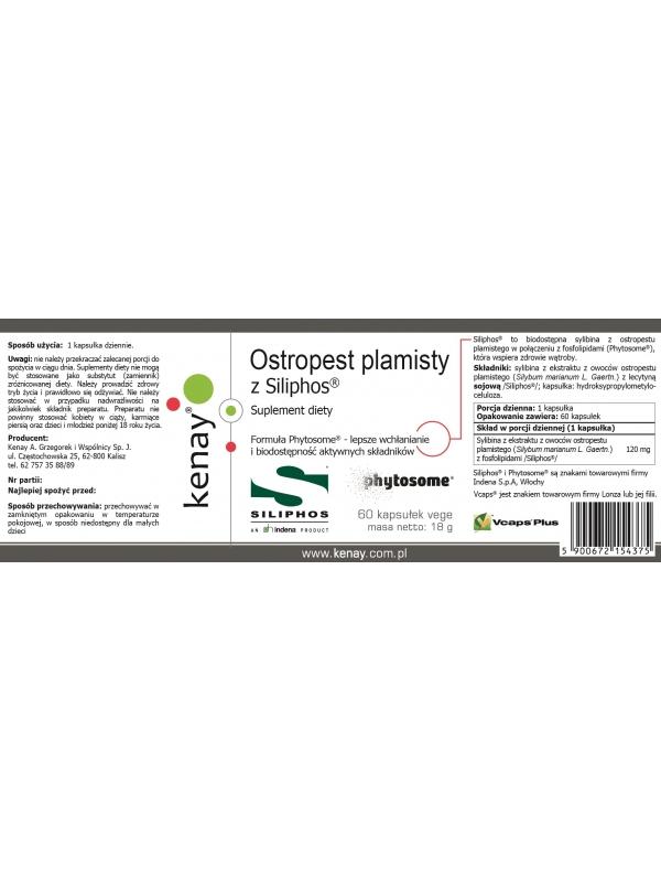 Ostropest plamisty z Siliphos® (60 kapsułek) - suplement diety