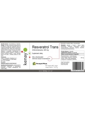 Resveratrol trans - zmikronizowany 100 mg (60 kapsułek) - suplement diety