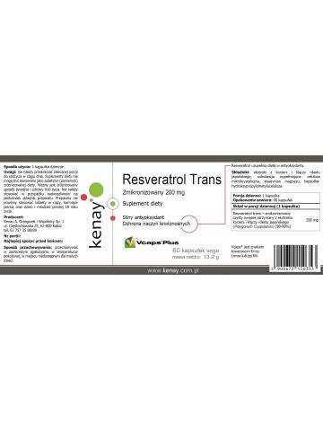 Resveratrol trans - zmikronizowany 200 mg (60 kapsułek) - suplement diety