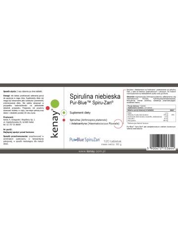 Spirulina niebieska Pur-Blue™ Spiru-Zan® (120 tabletek) - suplement diety