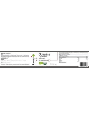 Spirulina Organiczna (600 tabletek) - suplement diety