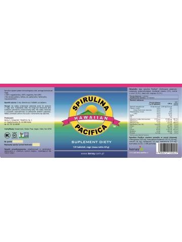 Spirulina Pacifica® hawajska 500 mg (120 tabletek) - suplement diety