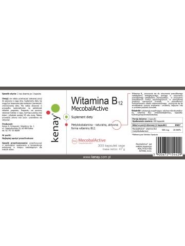 Witamina B12 (metylokobalamina) MecobalActive® (300 kapsułek) - suplement diety