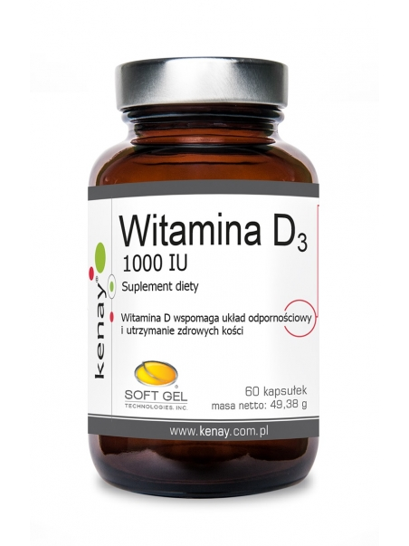 WITAMINA D3 1000 IU (60 kapsułek) - suplement diety