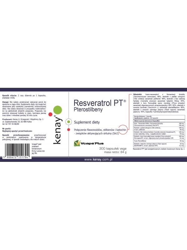 PTEROSTILBENY - Resveratrol PT® (300 kapsułek) - suplement diety