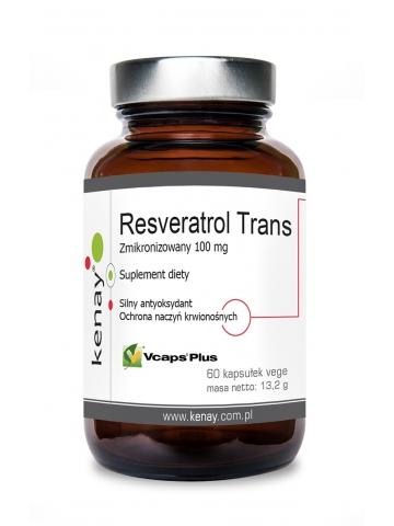 Resweratrol trans - zmikronizowany 100 mg (60 kapsułek) - suplement diety