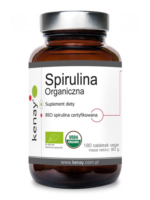 Spirulina Organiczna (180 tabletek) - suplement diety