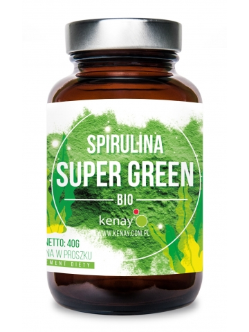 Organiczna Spirulina Super Green (proszek - 40 g) - suplement diety