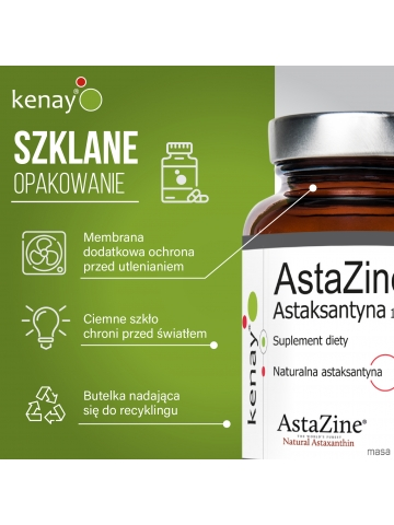 AstaZine® Astaksantyna 4 mg (60 kapsułek) - suplement diety