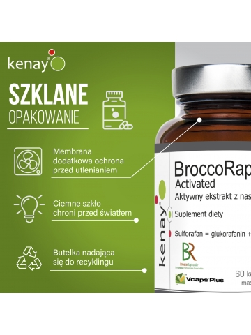 BroccoRaphanin® Activated - Aktywny ekstrakt z nasion brokułów (60 kapsułek) - suplement diety