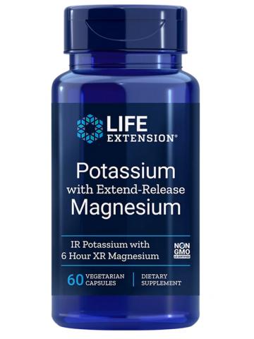 Potassium with Extend-Release Magnesium LifeExtension (60 kapsułek) - suplement diety