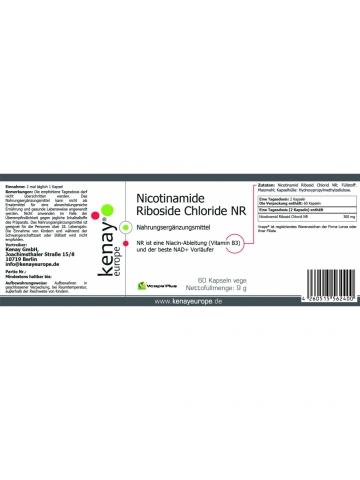 Chlorek rybozydu nikotynamidu NR (60 kapsułek vege) - suplement diety