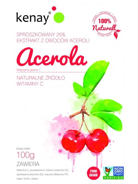 ACEROLA 25% - sproszkowany ekstrakt z owoców aceroli - 100 g