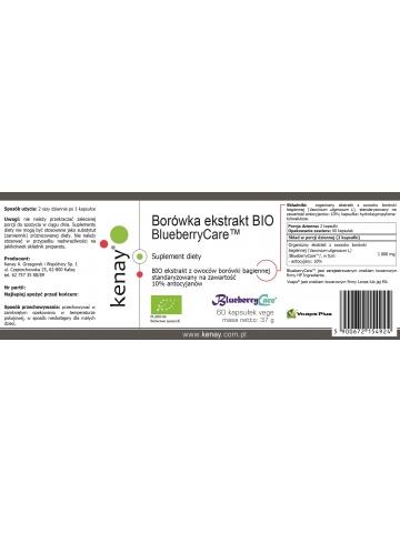 Borówka ekstrakt BIO BlueberryCare™ (60 kapsułek) - suplement diety