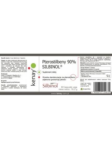 Pterostilbeny 90% SILBINOL® (60 kapsułek) - suplement diety