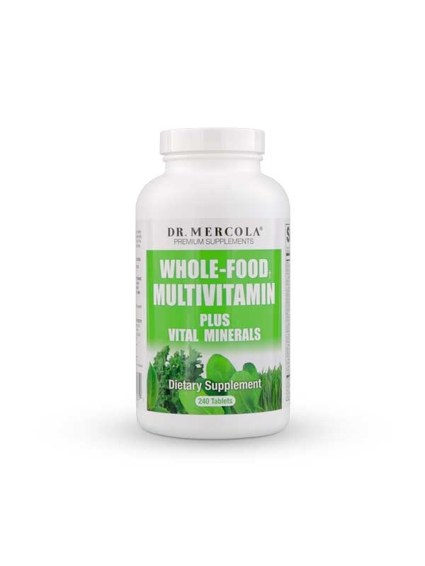 Multiwitaminy WHOLE –FOOD MULTIVITAMIN  PLUS  VITAL MINERALS Dr. Mercola (240 kaps.) - suplement diety