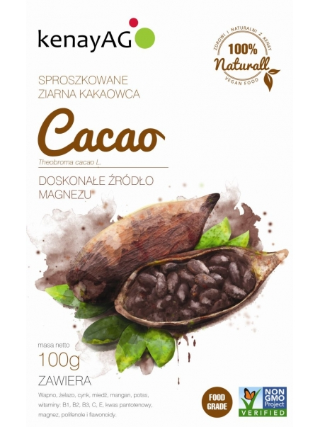 Kakao - sproszkowane ziarna kakaowca - 100 g