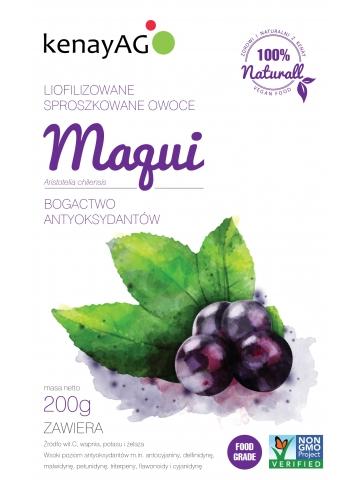 Maqui - liofilizowane, sproszkowane owoce jagód maqui - 200 g