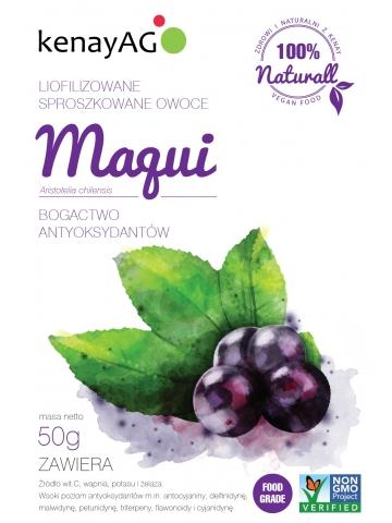 Maqui - liofilizowane, sproszkowane owoce jagód maqui - 50 g