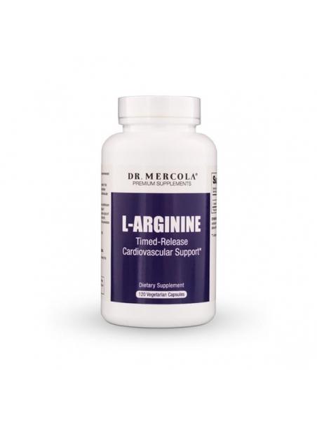 L-Arginina (dr Mercola) (120 kapsułek) - suplementy diety