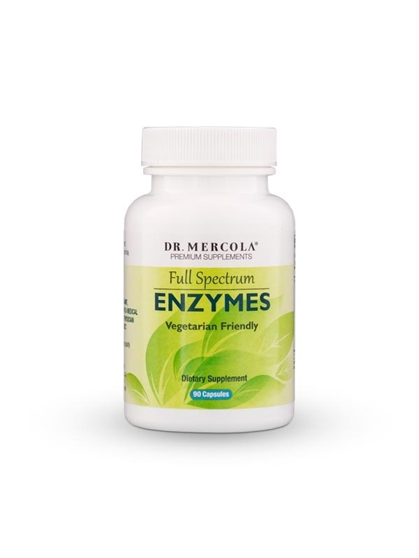 Enzymy - Full Spectrum Enzymes (dr Mercola) (60 kapsułek) - suplementy diety