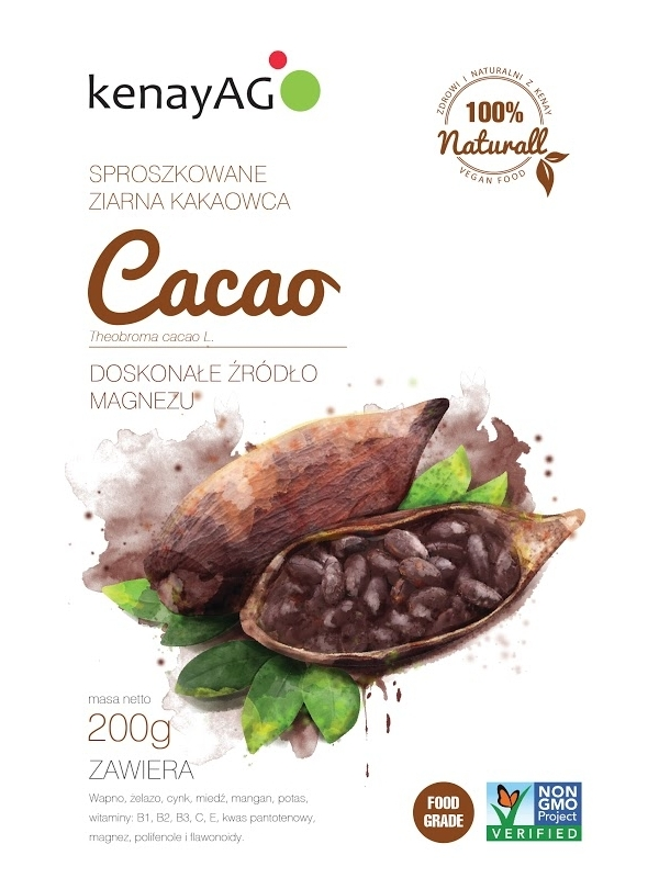 Kakao - sproszkowane ziarna kakaowca - 200 g