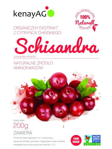SCHISANDRA (cytryniec chiński) - organiczny ekstrakt - 100g