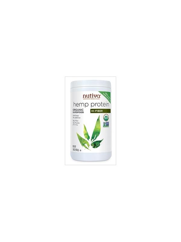 Proteiny i błonnik z konopi (Organic Hemp Protein Hi Fiber) Nutiva - 454g