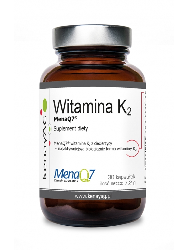 WITAMINA K2 Mena Q7 (30 kapsułek) - suplement diety